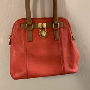 Charming charlie coral color purse